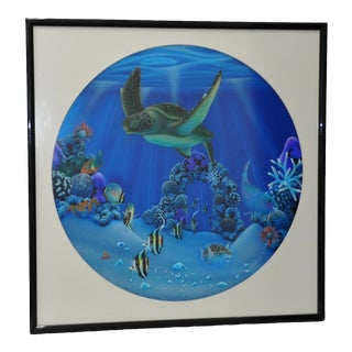 "Dale Zarrella ""Underwater Reflections, Hawaii"" Original Lithograph C. 1997 For Sale"