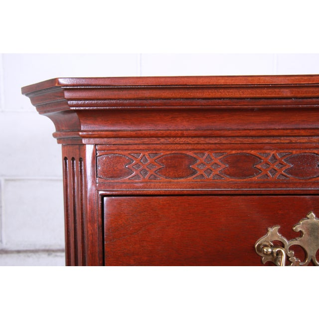 Baker Furniture Company Baker Furniture Mahogany Chippendale Style Highboy Dresser For Sale - Image 4 of 13