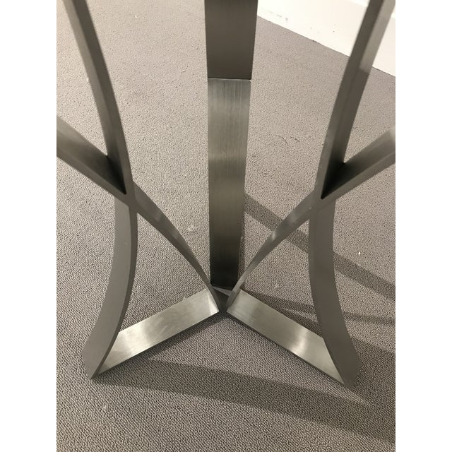 Kravet Modern Kravet Metal and Wood Round Side Table For Sale - Image 4 of 11