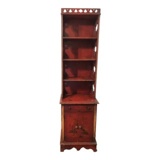 Antique Asian Style Bookcase Cabinet For Sale