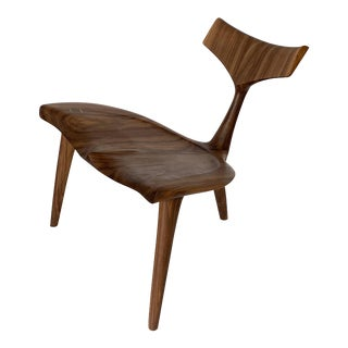 "Sculptural Walnut ""Whale"" Chair Morten Stenbaek For Sale"
