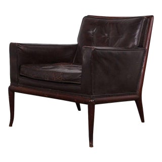 T.H. Robsjohn-Gibbings Lounge Chair in Original Leather For Sale
