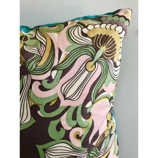 Modern Mid Century Style Scarf Decorative Pillow For Sale - Image 4 of 8