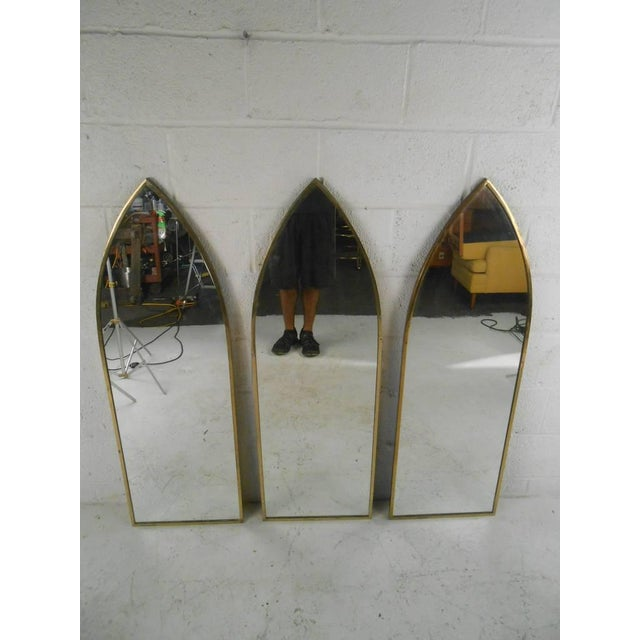 Gold Mid-Century Arch Mirrors - Set of 3 For Sale - Image 8 of 10