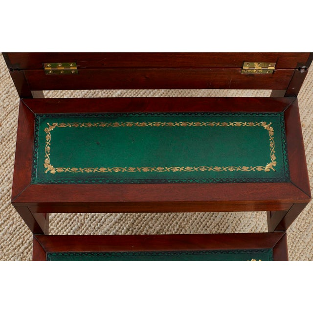 English Regency Style Mahogany Metamorphic Library Step Chair For Sale - Image 10 of 13