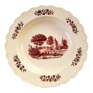 18th Century English Stone Cottage Creamware Plate For Sale