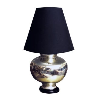 2Oth Century Antique Ginger Jar Shaped Mercury Reflective Table Lamp For Sale