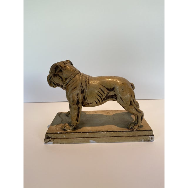 Ceramic Bulldog Statue or Bookend Made in Japan For Sale - Image 4 of 6