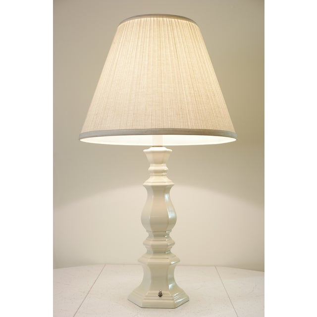 Large Vintage Ceramic Table Lamp For Sale - Image 4 of 5
