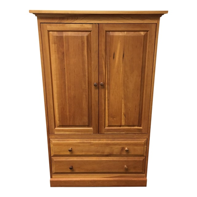 Contemporary Wooden Media Armoire - Image 1 of 8