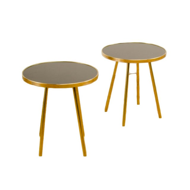 Italian Modern Brass Occasional Tables - a Pair For Sale - Image 12 of 12
