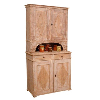 Gustavian Buffet a Deux -Corps For Sale