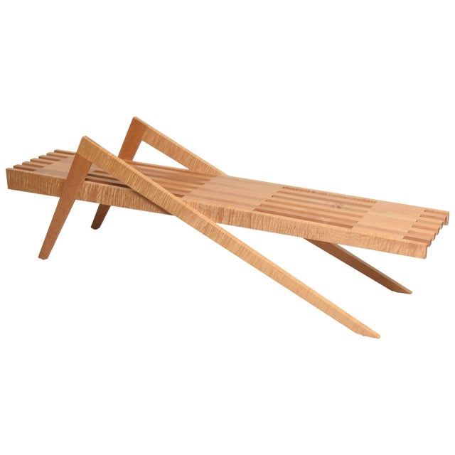 "Bespoke Wood, ""Grasshopper"" Bench by the American Architect, Marc Phiffer For Sale"
