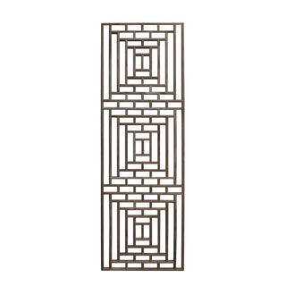 Rectangular Geometric Wood Wall Panel For Sale