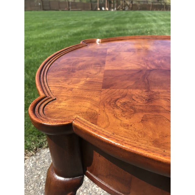 Hekman Furniture Traditional Queen Anne Walnut Side Table by Hekman For Sale - Image 4 of 6