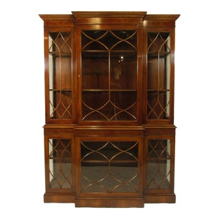 1980's Georgian Style China Cabinet For Sale