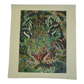 Late 20th Century Guillaume Azoulay Tigris II Giclee Print For Sale
