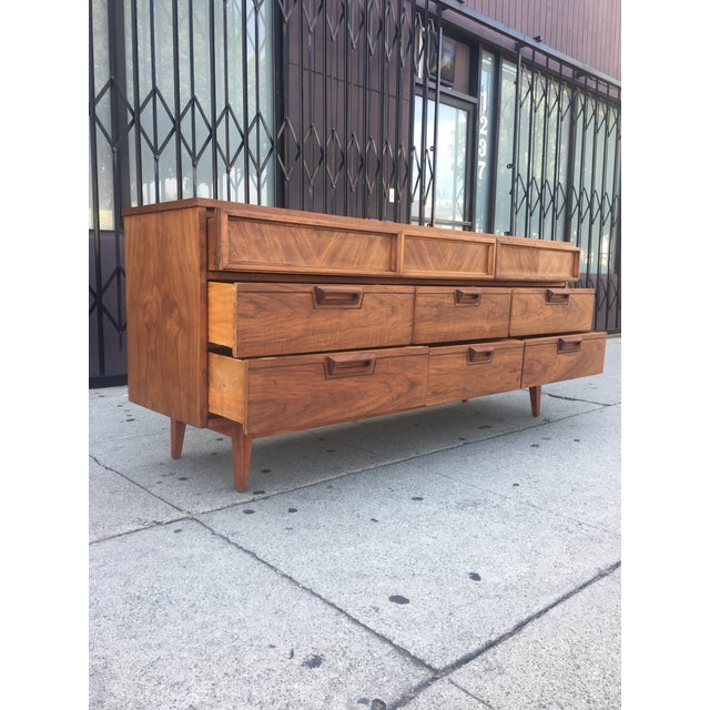 Mid-Century Dresser With Sculpted Pulls - Image 4 of 11