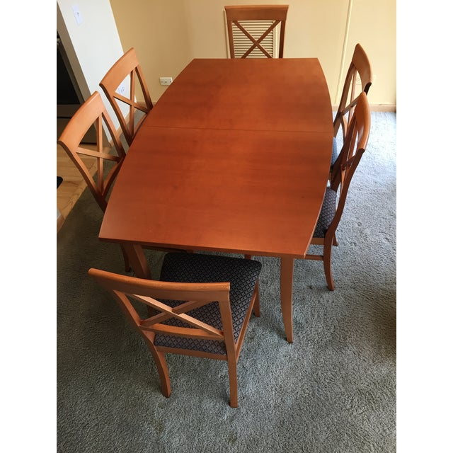 Wood Transitional Dania Dining Set - 7 Pieces For Sale - Image 7 of 8