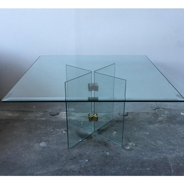 Leon Rosen Pace Collection Glass Coffee Table - Image 9 of 10