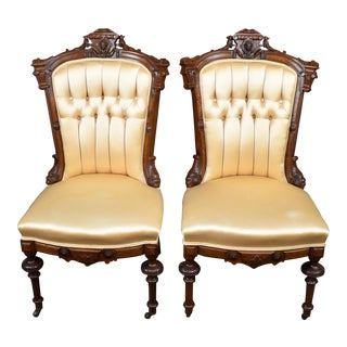 Jelliff Victorian Renaissance Revival Side Chairs - a Pair For Sale