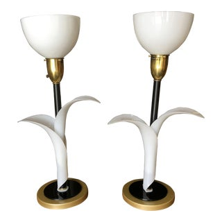 Sculptural Acrylic Table Lamps by Rembrandt - a Pair For Sale