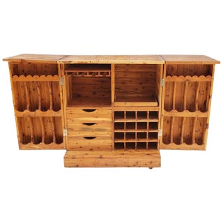 Moroccan Carved Wooden Bar or Cabinet For Sale