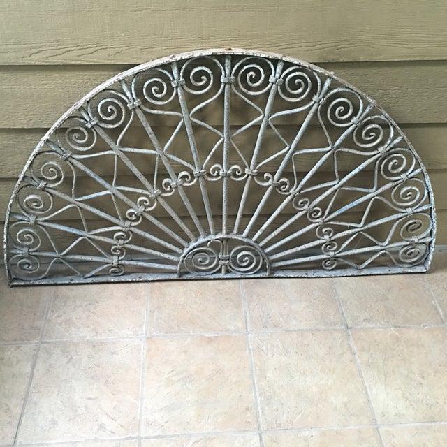 Victorian White Iron Gate Panel - Image 2 of 3