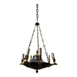 1920s French Eagle Heads Empire Chandelier For Sale
