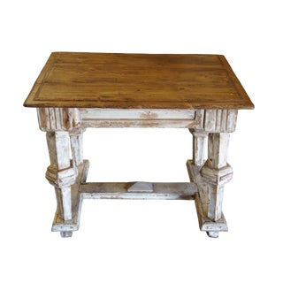 20th Century Rustic Pine Library Table For Sale