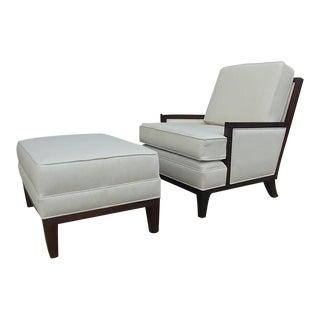 Henredon Furniture Barbara Barry Mendicino Lounge Chair & Ottoman For Sale