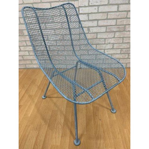 Blue Mid Century Modern Russel Woodard Sculptural Collection Patio Chairs - Pair For Sale - Image 8 of 11