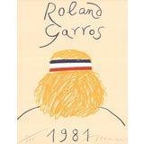 Image of Eduardo Arroyo Roland Garros Signed Offset Lithograph For Sale