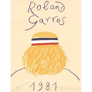 Eduardo Arroyo Roland Garros Signed Offset Lithograph For Sale