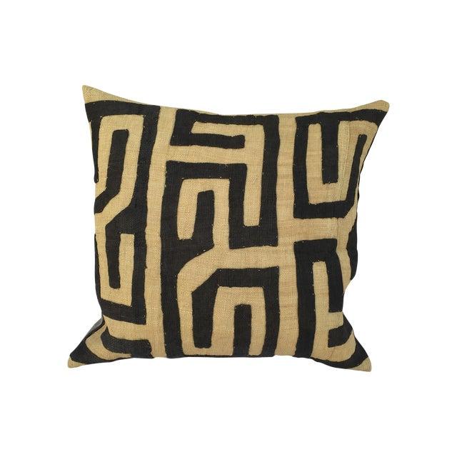 African Kuba Maze Pillow For Sale