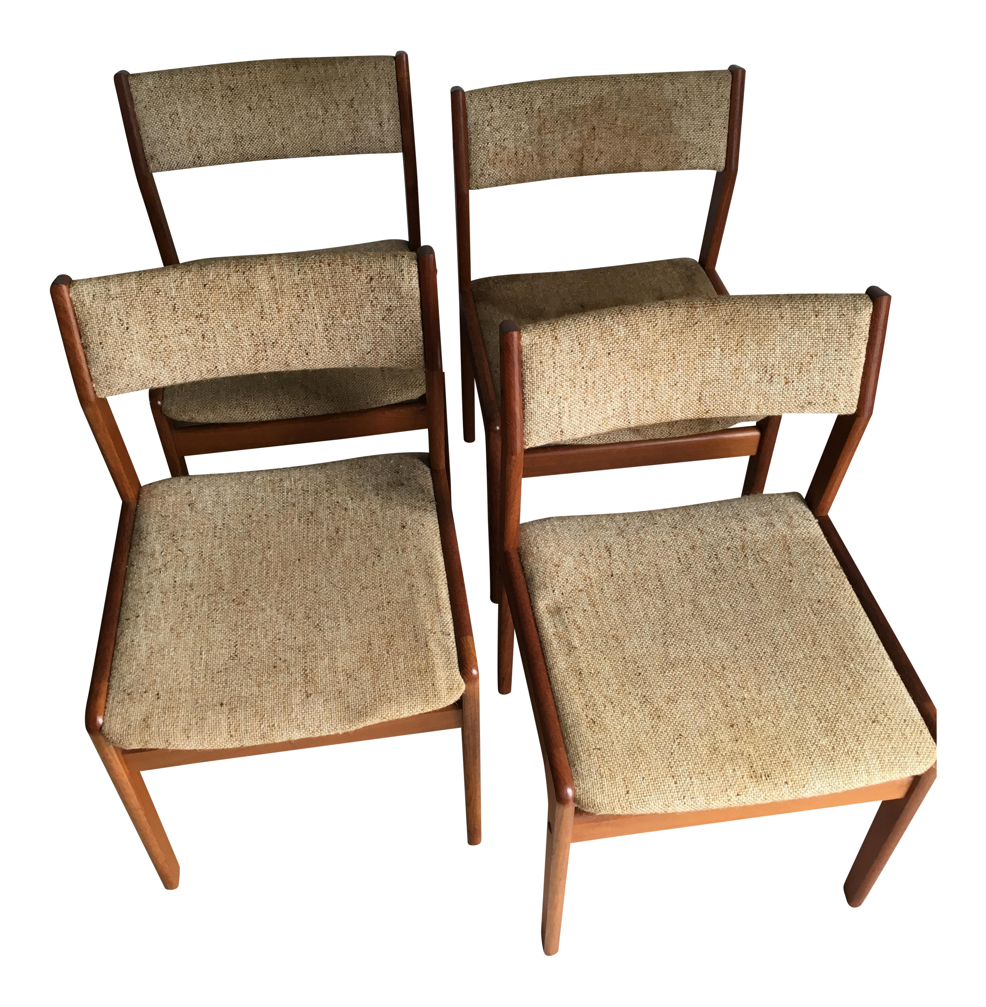 Ordinaire Vintage Mid Century Modern Danish Dining Chairs By Domus Damica  Set Of 4  For Sale