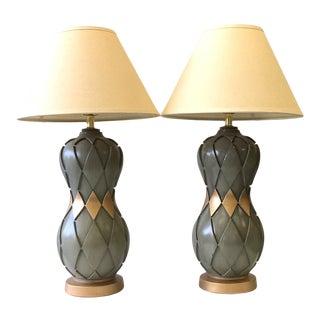 Vintage Mid-Century Modern Argyle Ceramic Lamps - a Pair For Sale