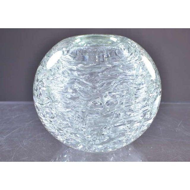Exquisite Heavy Glass Spherical Vase By Frantisek Vizner Decaso