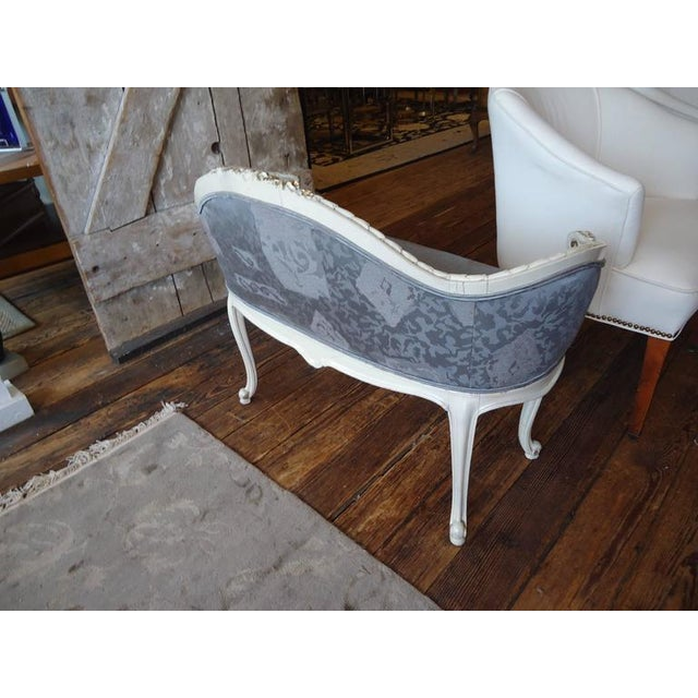 Antique French Small Settee Loveseat For Sale - Image 7 of 7