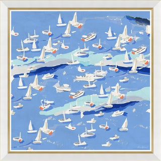 """Island Hopping I"" By Dana Gibson, Framed Art Print"