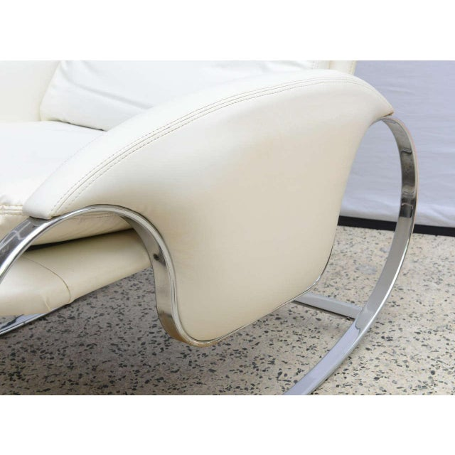 Milo Baughman Style Chrome Rocking Chair, Usa, 1970s For Sale - Image 9 of 10