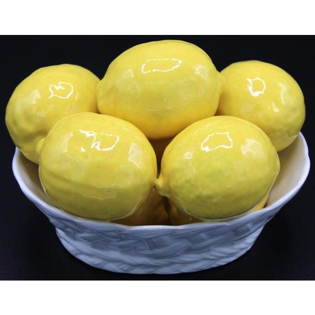 Italian Italian Ceramic Lemon Basket For Sale - Image 3 of 9
