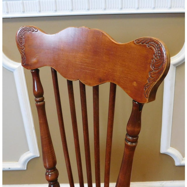 Antique Maple & Walnut Victorian Era Windsor Piano Chair Stool c1900 For Sale In New York - Image 6 of 9