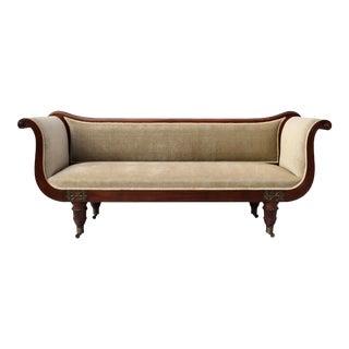 Early 19th Century Regency Mahogany Scroll Arm Sofa For Sale