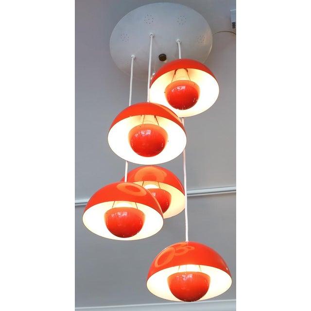 1970's Big Flower Pot Hanging Light by Verner Panton For Sale - Image 9 of 10