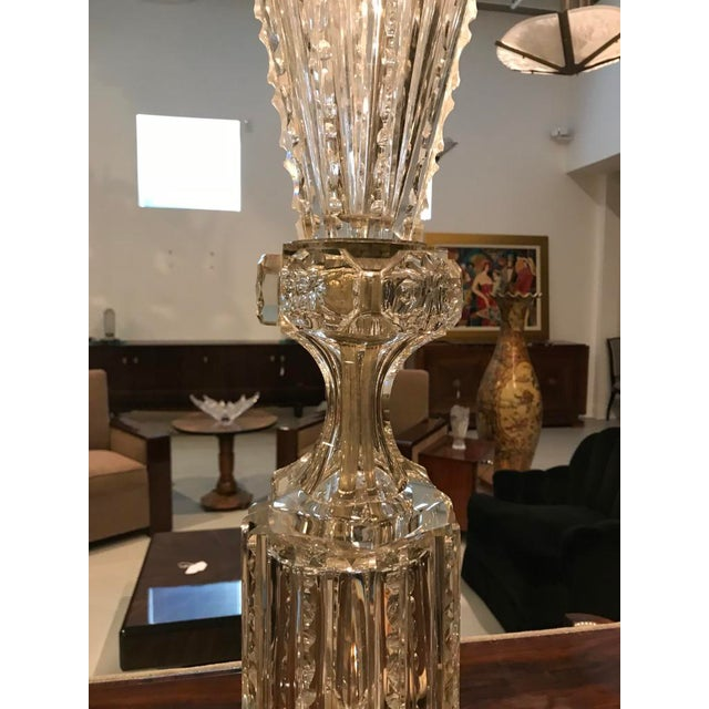Monumental Russian Imperial Cut-Crystal Vase For Sale In New York - Image 6 of 8