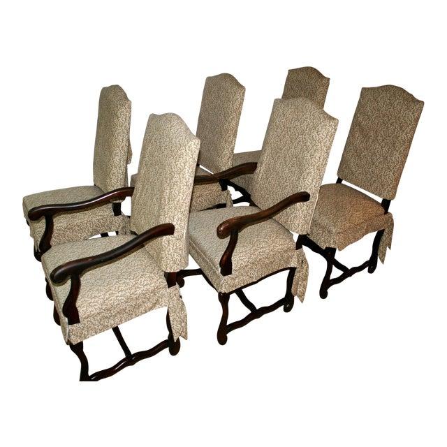 Italian Dining Chairs With Custom Slipcovers