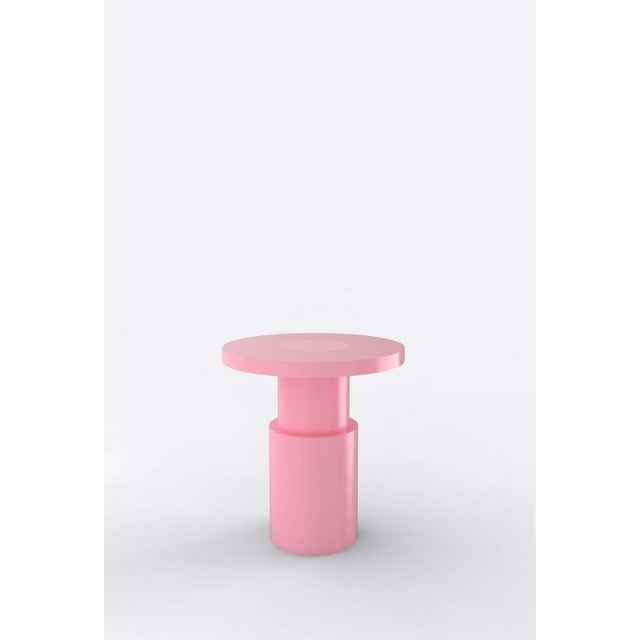 Postmodern Contemporary 105C End Table by Orphan Work, 2020, Pink For Sale - Image 3 of 3