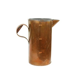 Antique English Copper Pitcher For Sale