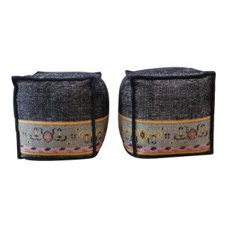 Moroccan Inspired Poufs- A Pair For Sale